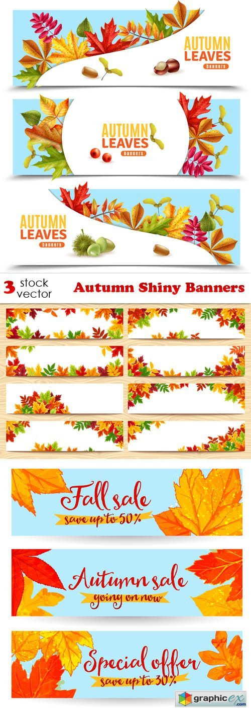Autumn Shiny Banners