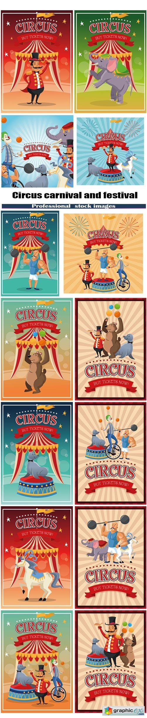 Circus carnival and festival