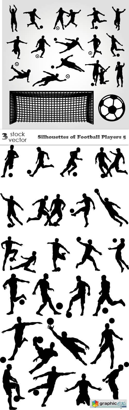 Silhouettes of Football Players 5