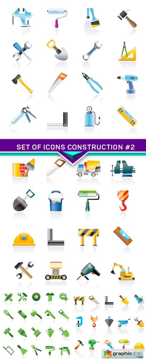 Set of icons construction #2 4X EPS