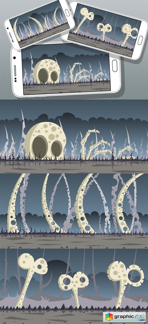 5 Bone Land Game Backgrounds