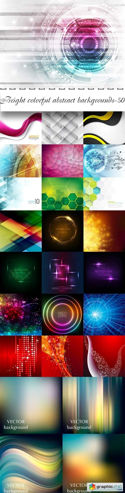Bright colorful abstract backgrounds vector -51