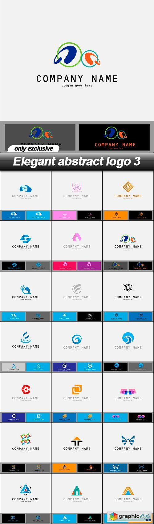 Elegant abstract logo 3 - 21 EPS
