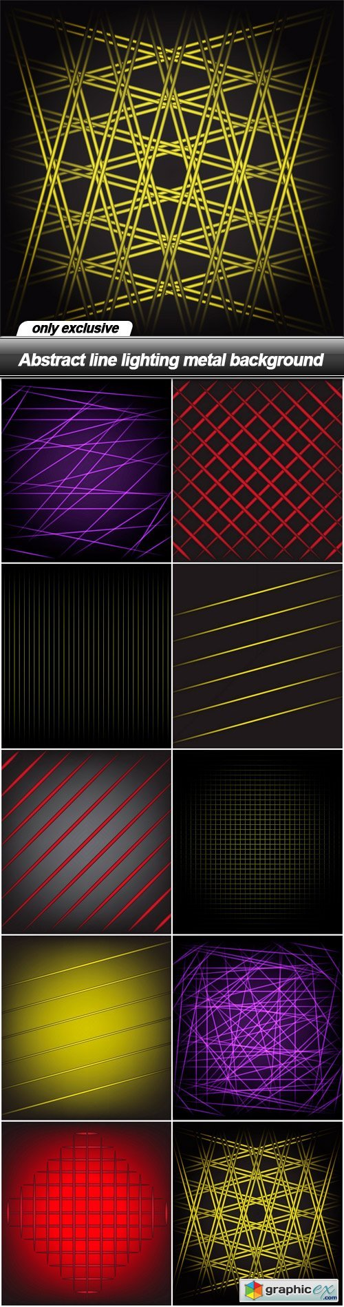 Abstract line lighting metal background - 10 EPS