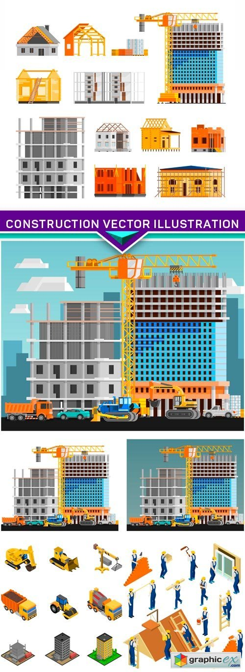 Construction vector illustration 4X EPS