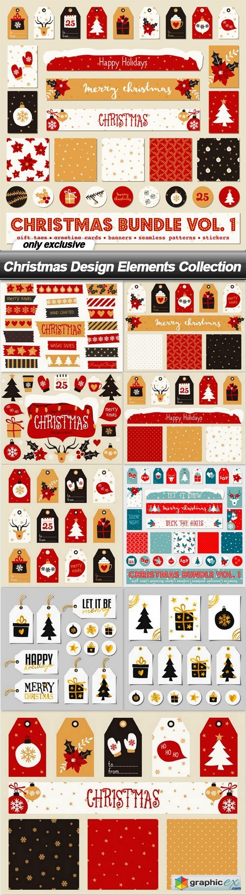 Christmas Design Elements Collection - 10 EPS