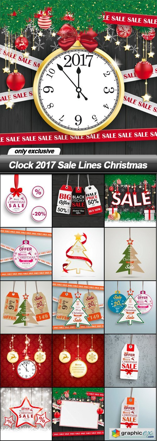 Clock 2017 Sale Lines Christmas - 16 EPS