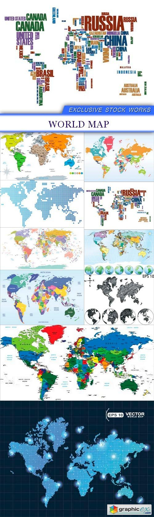 World map 10X EPS