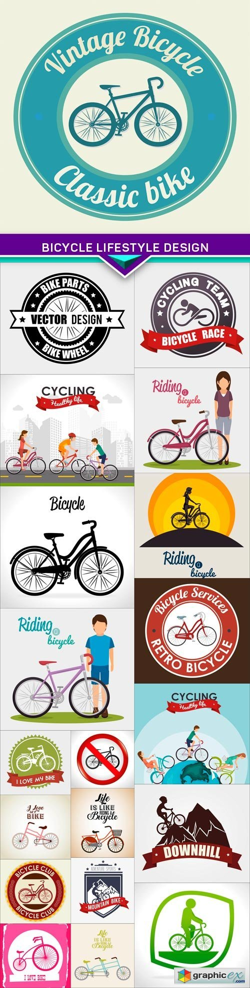 Bicycle lifestyle design 20X EPS