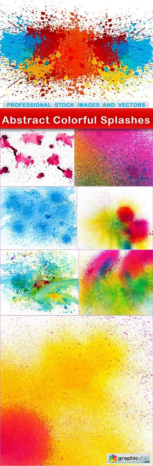 Abstract Colorful Splashes - 8 EPS