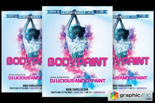 Bodypaint Ladies Party