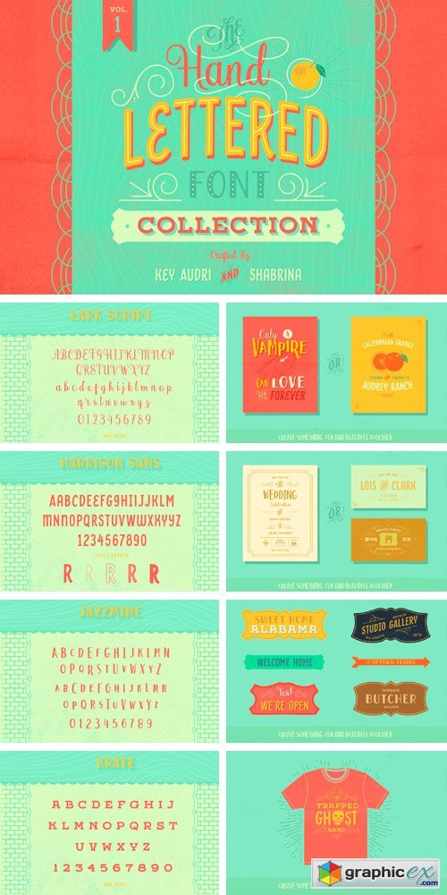Hand Lettered Font Collection Vol.1