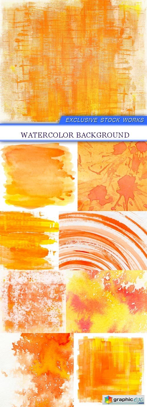 Watercolor background 9X JPEG