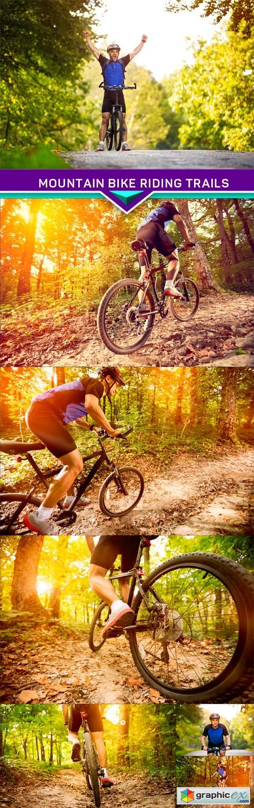 Mountain bike riding trails 7X JPEG