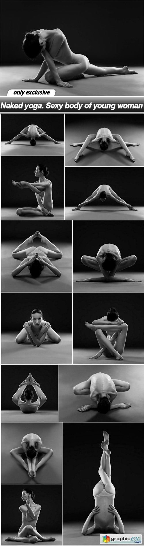 Naked yoga. Sexy body of young woman - 14 UHQ JPEG