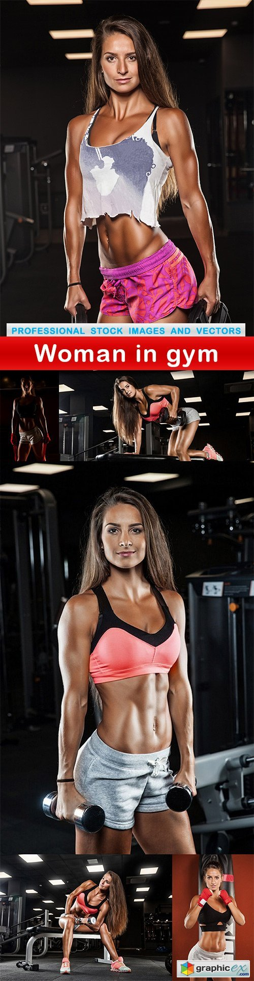 Woman in gym - 6 UHQ JPEG