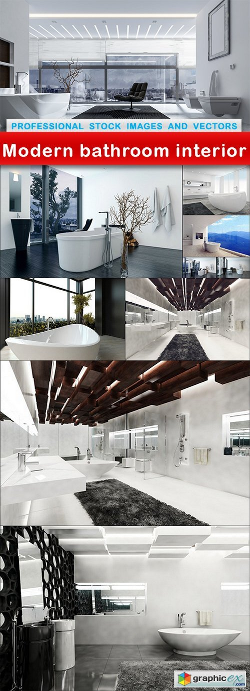 Modern bathroom interior - 10 UHQ JPEG