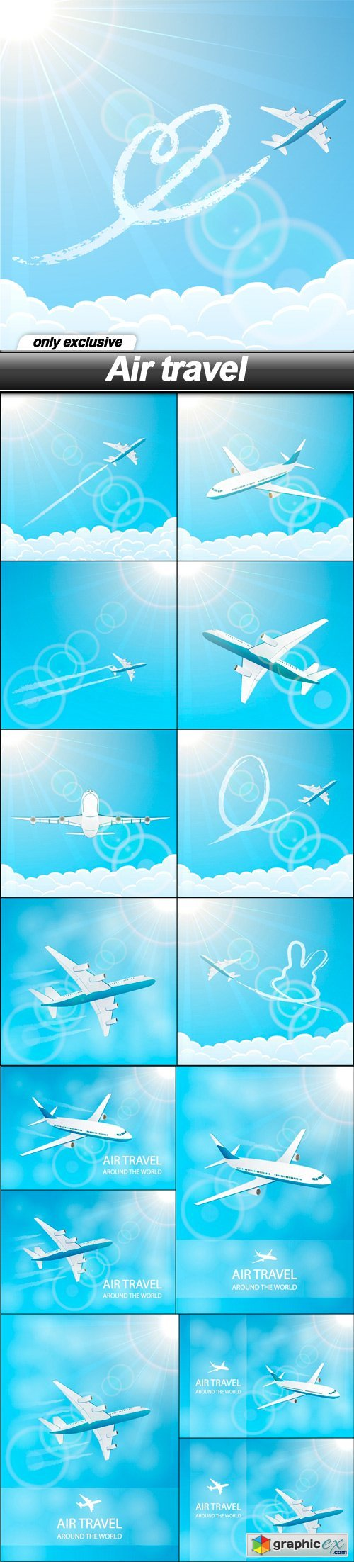 Air travel - 15 EPS