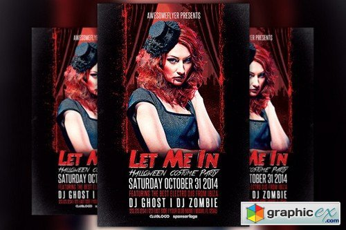 Let Me In Halloween Party Flyer