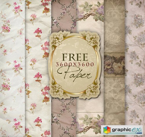 Flower Backgrounds in Vintage Style, part 23