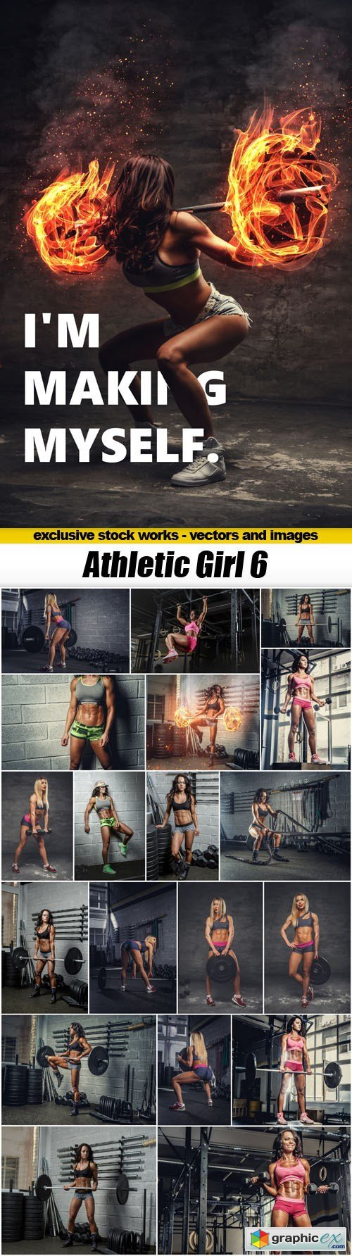 Athletic Girl 6 - 20xUHQ JPEG