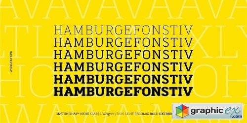Martinithai Neue Slab Font Family - 6 Fonts