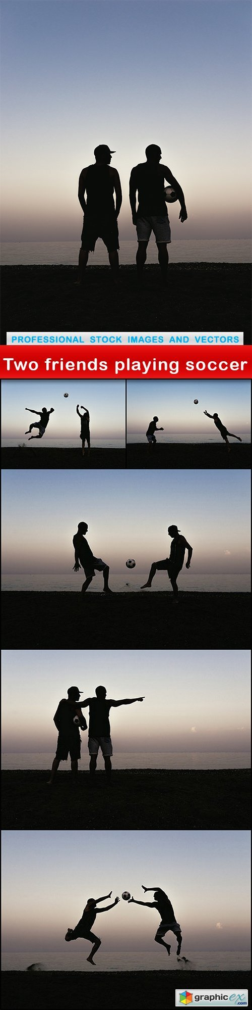 Two friends playing soccer - 6 UHQ JPEG