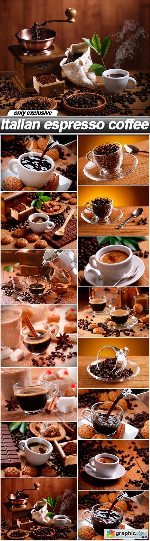 Italian espresso coffee - 15 UHQ JPEG