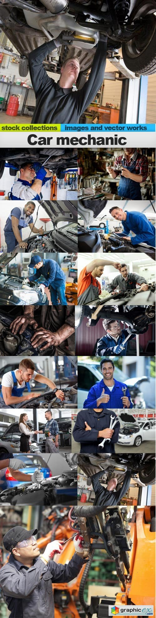Car mechanic, 15 x UHQ JPEG