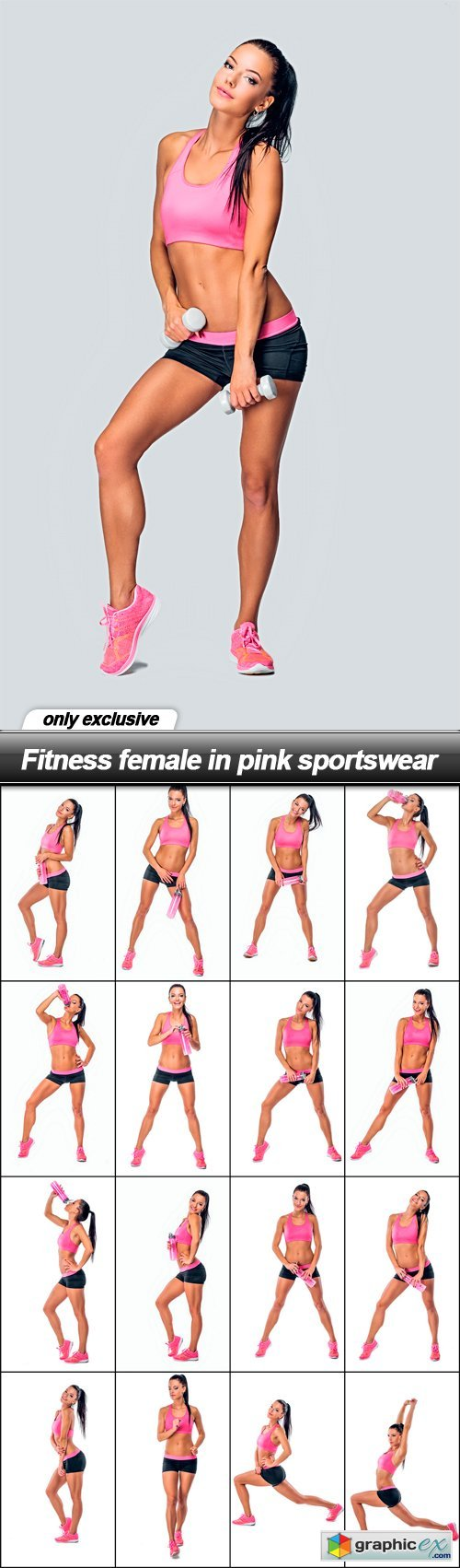 Fitness female in pink sportswear - 17 UHQ JPEG