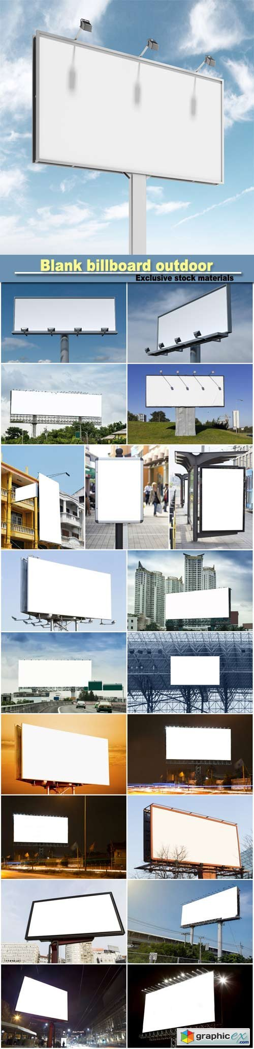 Blank billboard outdoor for advertising poster for advertisement concept