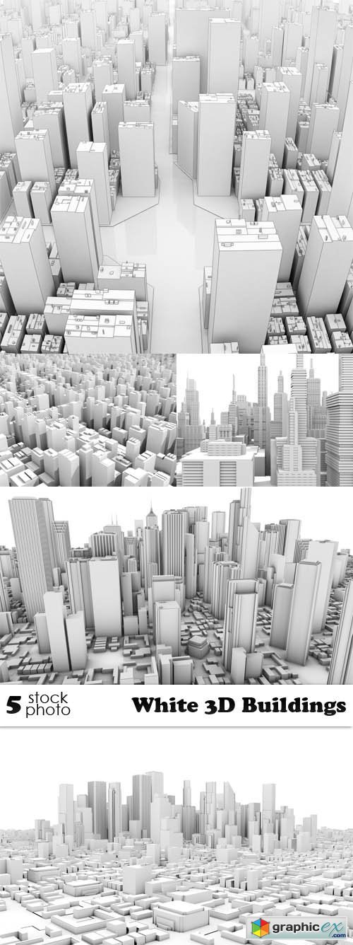 White 3D Buildings