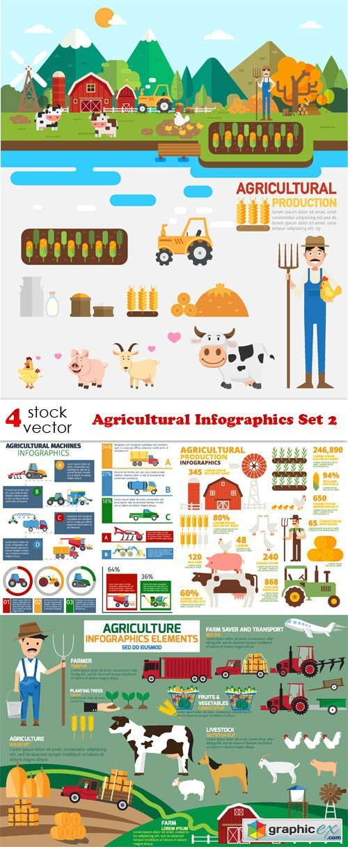 Agricultural Infographics Set 2