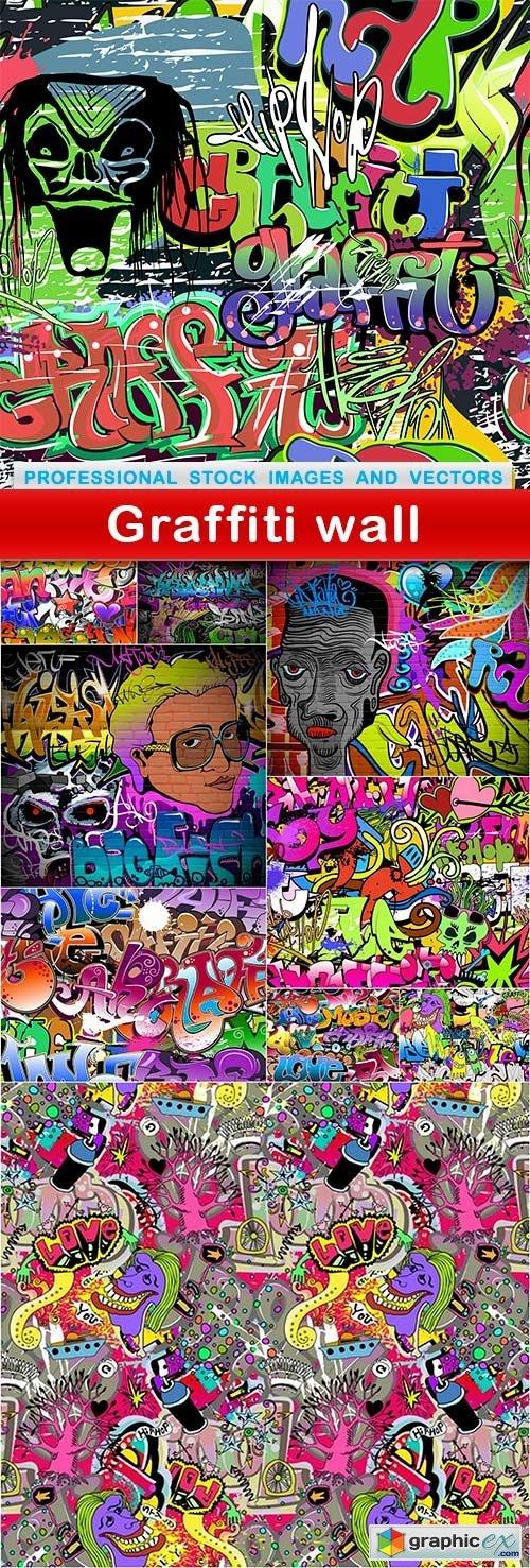 Graffiti wall - 10 EPS