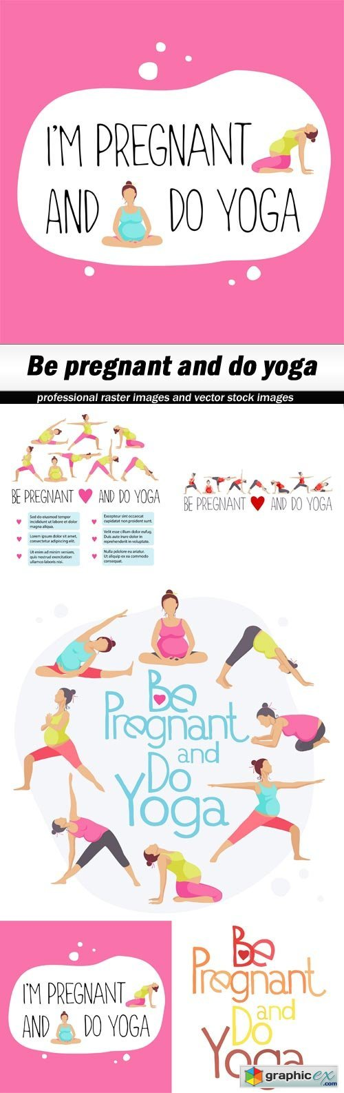 Be pregnant and do yoga - 5 EPS