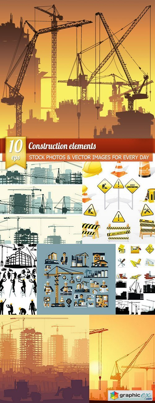 Construction elements, 10 x EPS