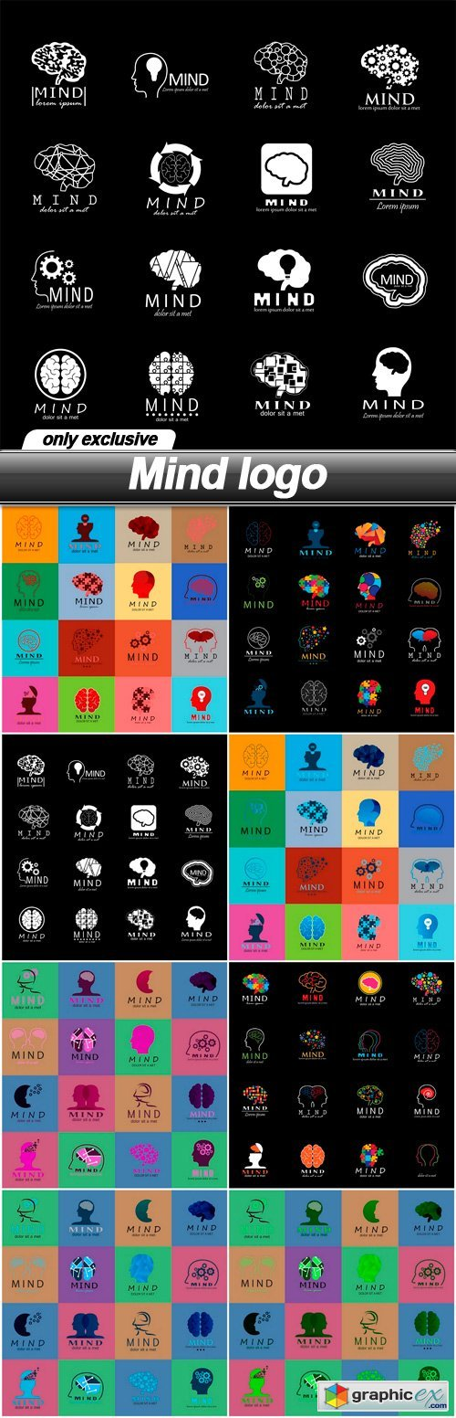 Mind logo - 8 EPS