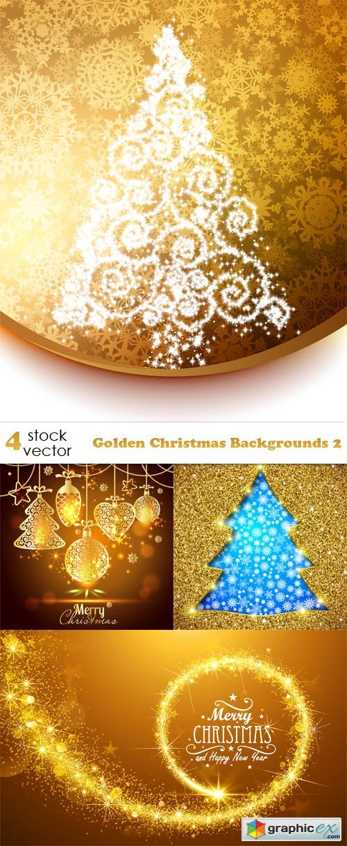Golden Christmas Backgrounds 2