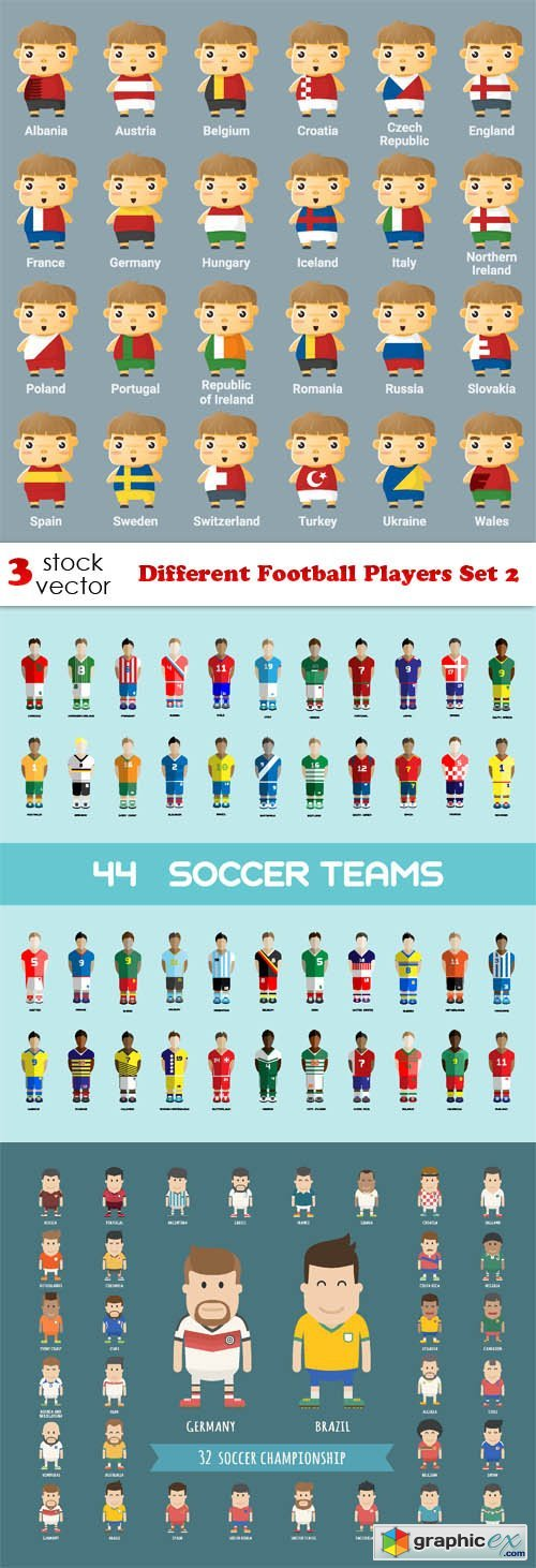 Different Football Players Set 2