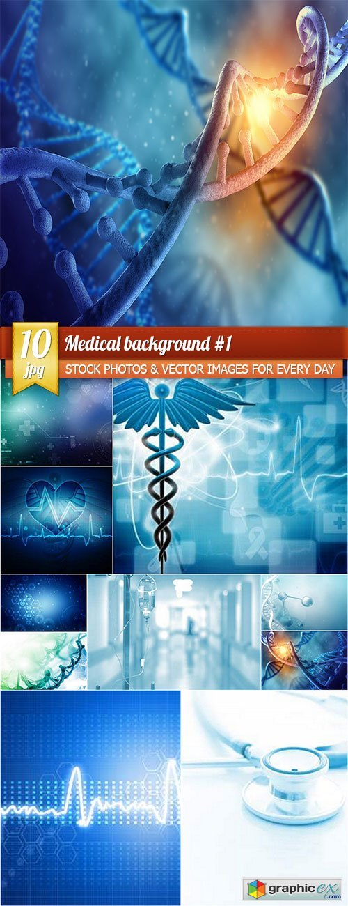 Medical background 1, 10 x UHQ JPEG