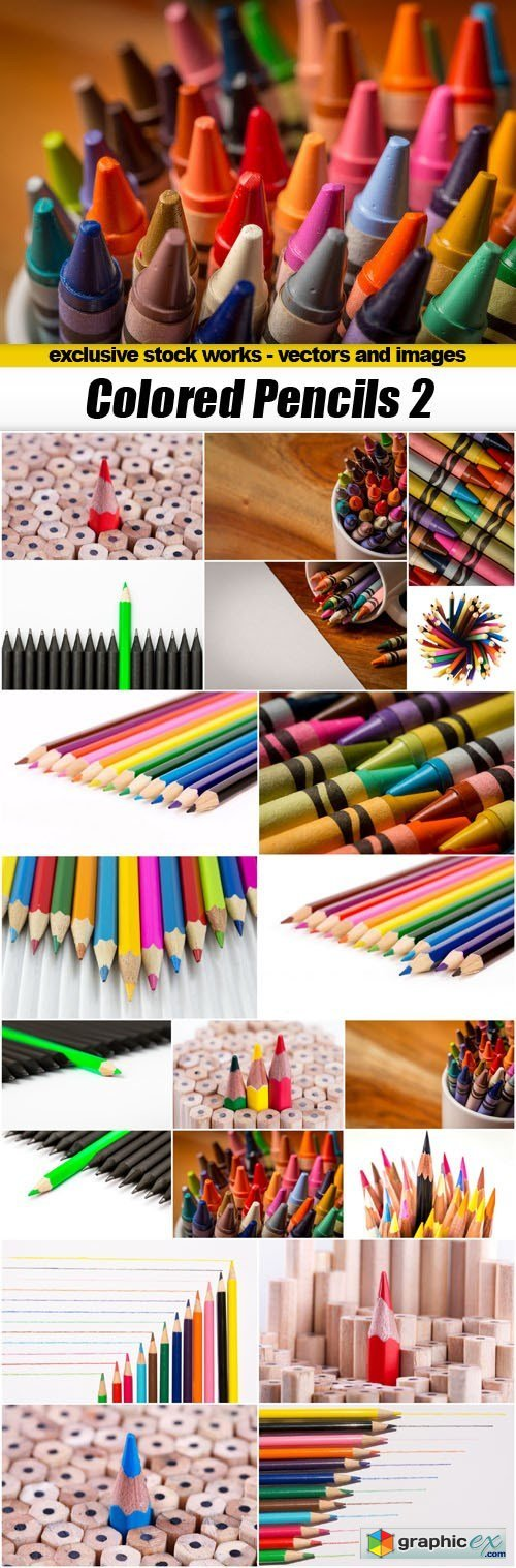 Colored Pencils 2 - 20xUHQ JPEG
