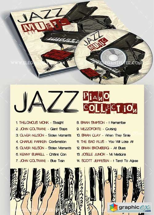 Jazz Premium CD Cover PSD Template