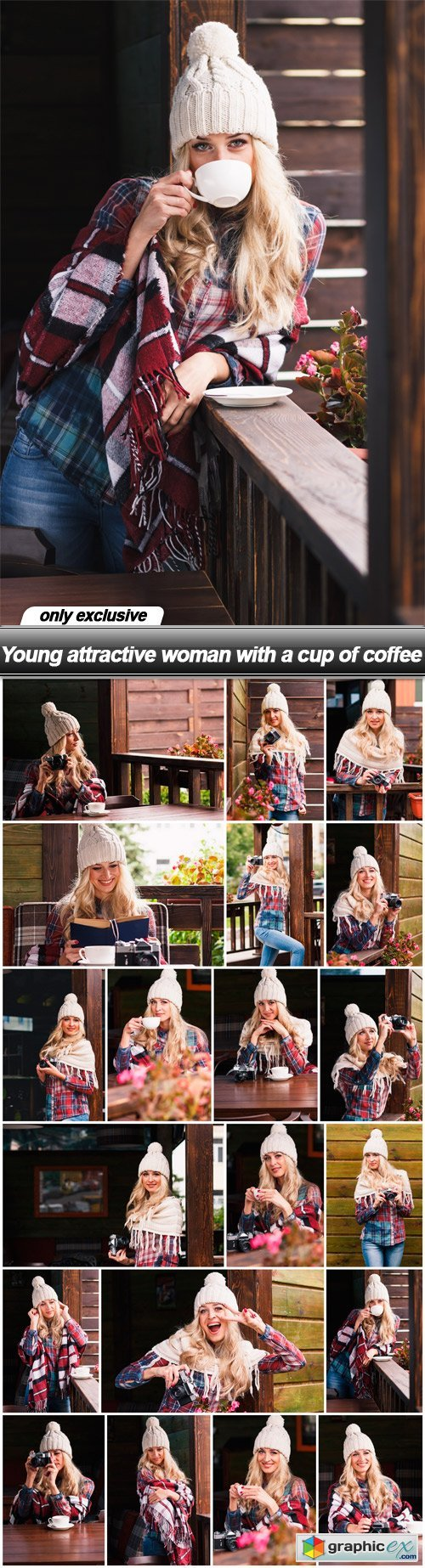 Young attractive woman with a cup of coffee - 20 UHQ JPEG