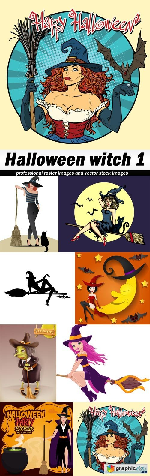 Halloween witch 1 - 8 EPS