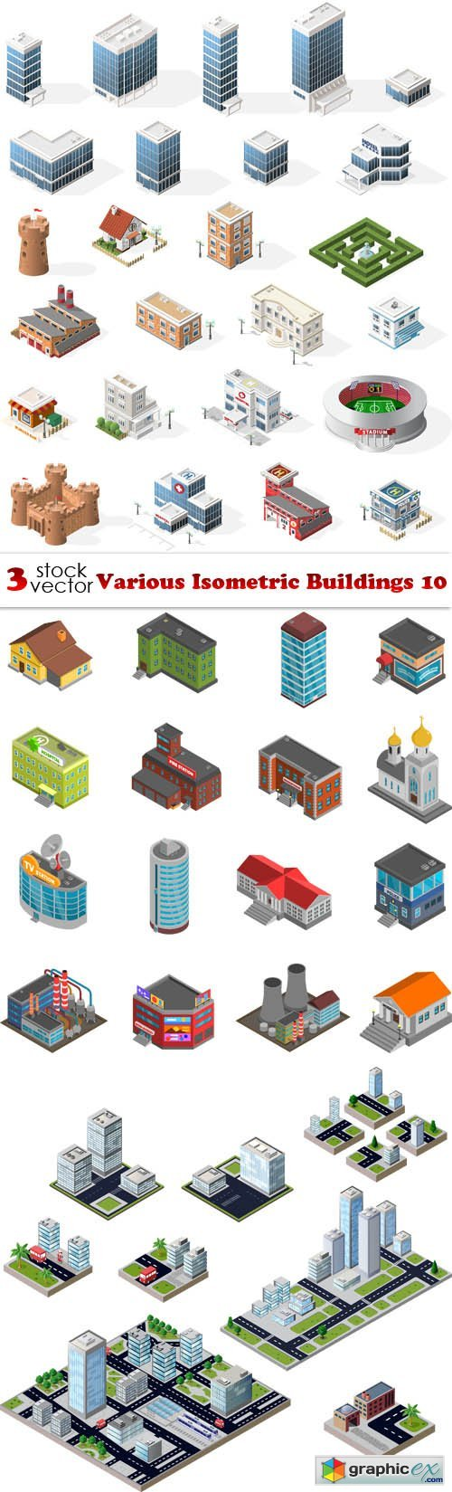 Various Isometric Buildings 10