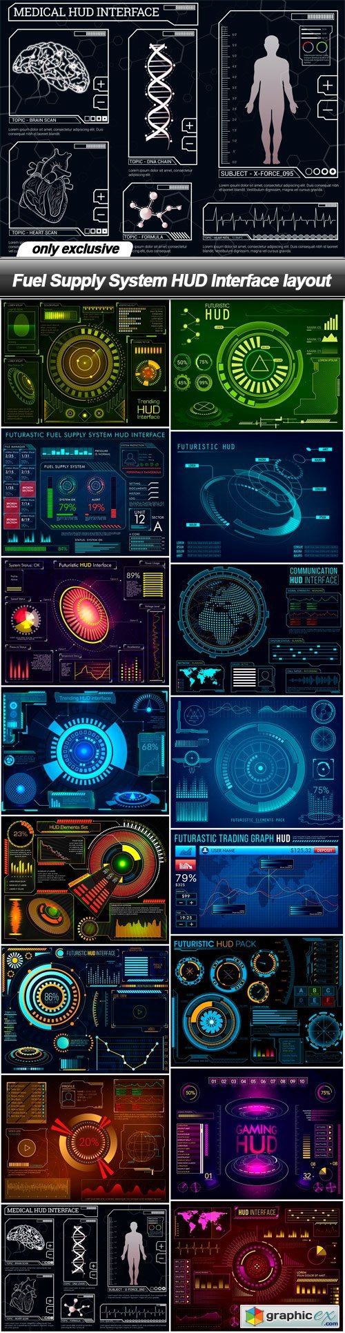 Fuel Supply System HUD Interface layout - 16 EPS