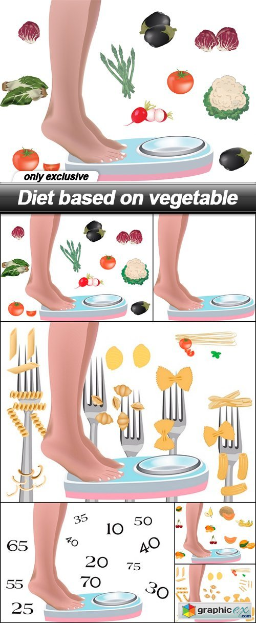 Diet based on vegetable - 6 EPS