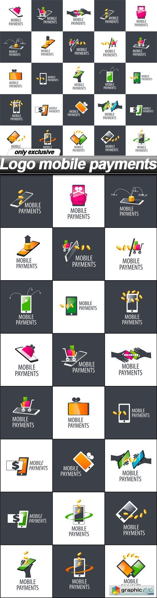 Logo mobile payments - 25 EPS