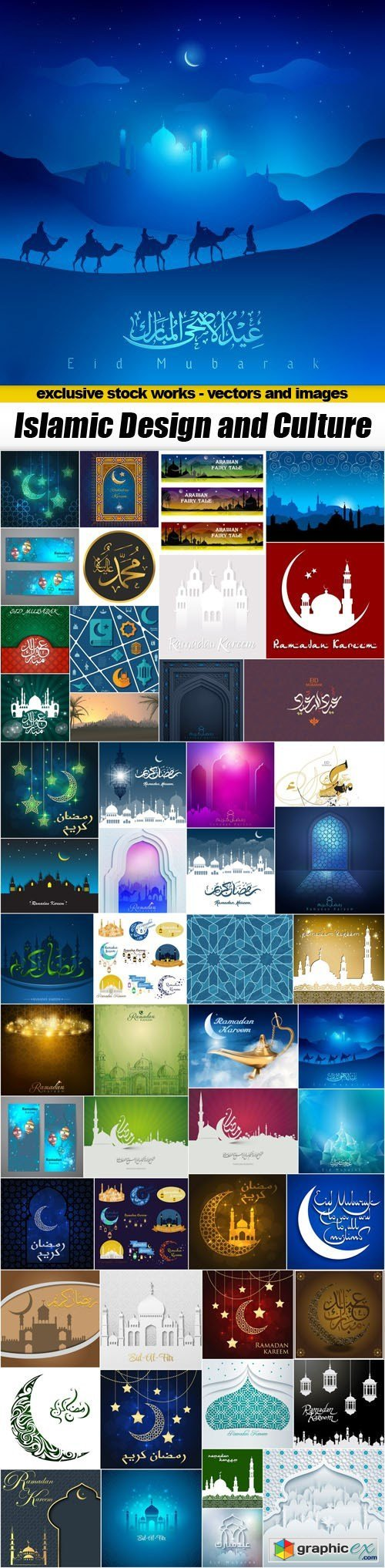 Islamic Design and Culture - 50xEPS