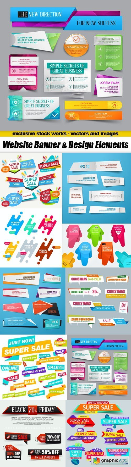 Website Banner & Design Elements - 10xEPS